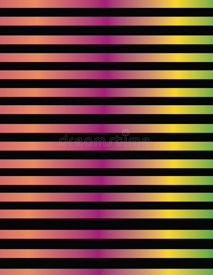 Σχέδιο γραμμών στις μεταλλικές κλίσεις χρώματος διανυσματική απεικόνιση