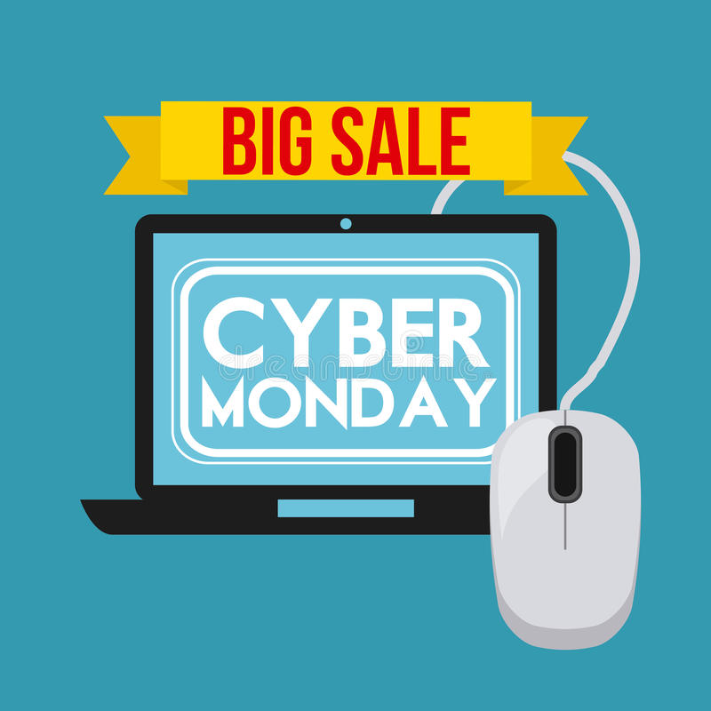 Download Σχέδιο Δευτέρας Cyber διανυσματική απεικόνιση. εικονογραφία από ποντίκι - 62705125