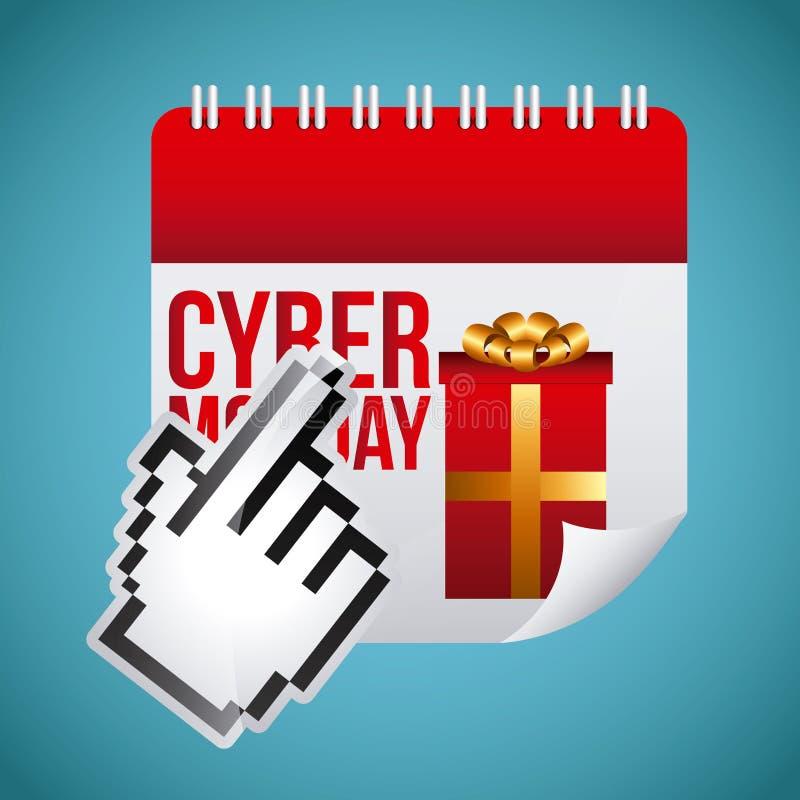 Download Σχέδιο Δευτέρας Cyber διανυσματική απεικόνιση. εικονογραφία από εικονίδιο - 62705194