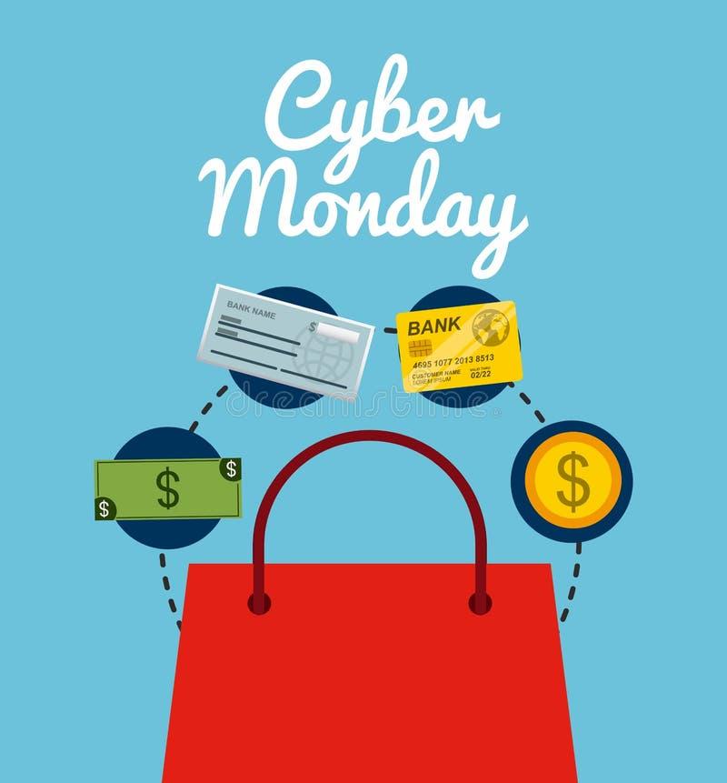 Download Σχέδιο Δευτέρας Cyber διανυσματική απεικόνιση. εικονογραφία από διακόσμηση - 62705201