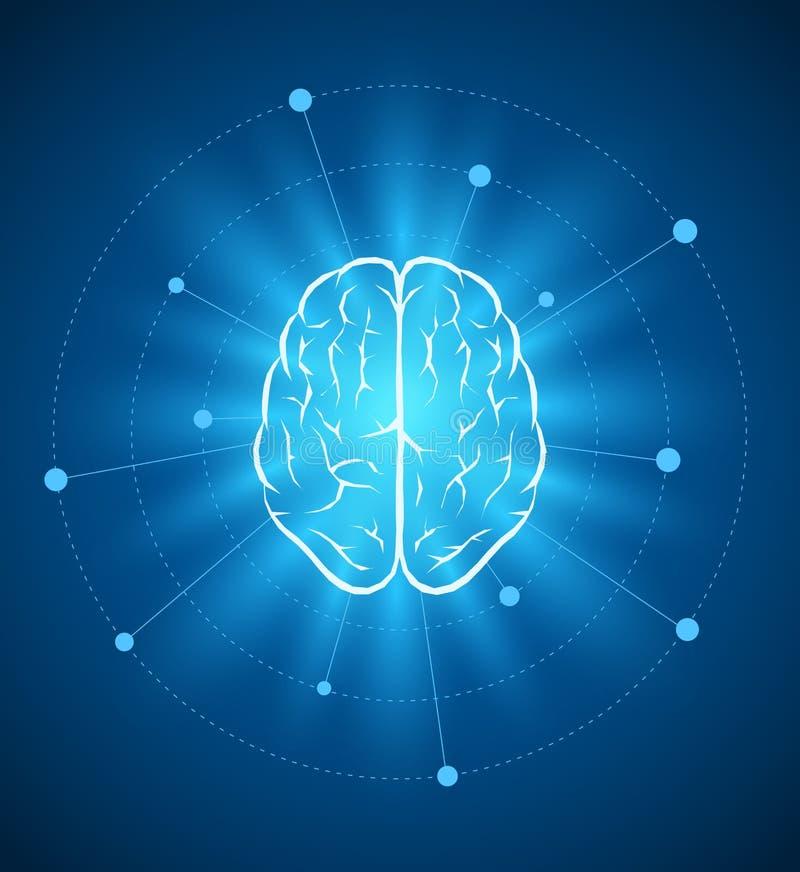 Σχέδιο εγκεφάλου διανυσματική απεικόνιση