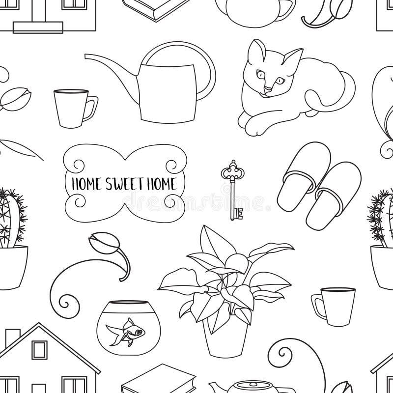 Σχέδιο εγχώριων γλυκό σπιτιών απεικόνιση αποθεμάτων