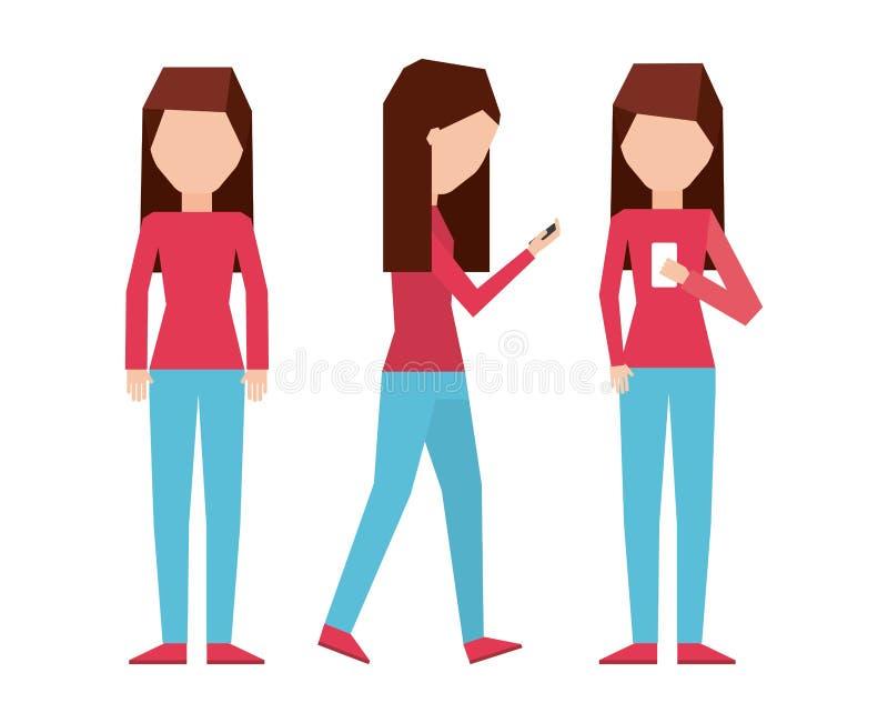 Σχέδιο εθισμού Smartphone διανυσματική απεικόνιση