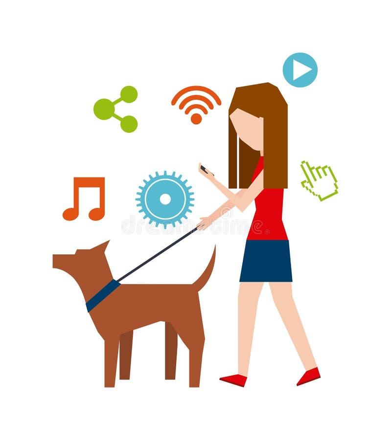 Σχέδιο εθισμού Smartphone απεικόνιση αποθεμάτων