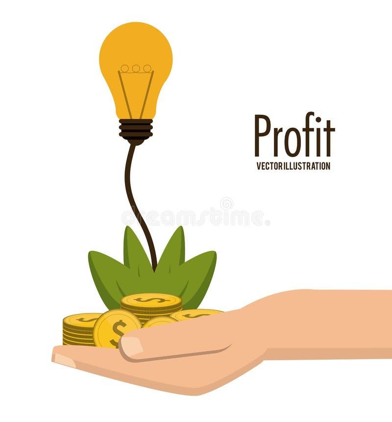 Σχέδιο εικονιδίων κέρδους διανυσματική απεικόνιση