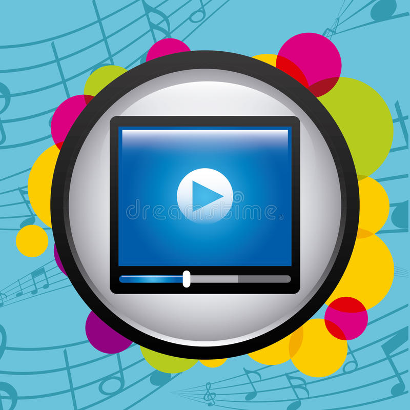 Download Σχέδιο εικονιδίων μουσικής διανυσματική απεικόνιση. εικονογραφία από ύφος - 62702234
