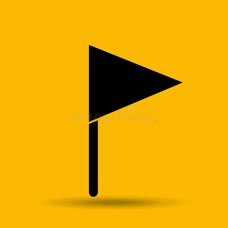 Σχέδιο εικονιδίων σημαιών διανυσματική απεικόνιση