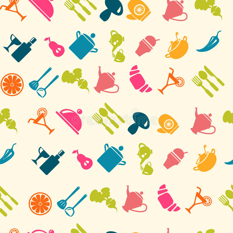 Σχέδιο εικονιδίων τροφίμων - απεικόνιση ελεύθερη απεικόνιση δικαιώματος