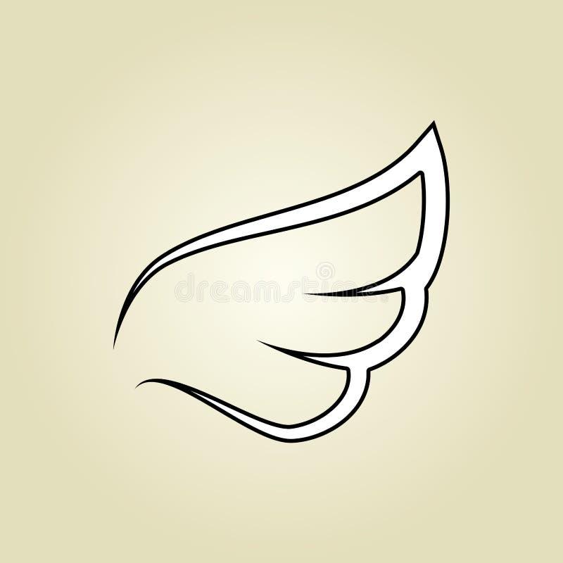 σχέδιο εικονιδίων φτερών ελεύθερη απεικόνιση δικαιώματος