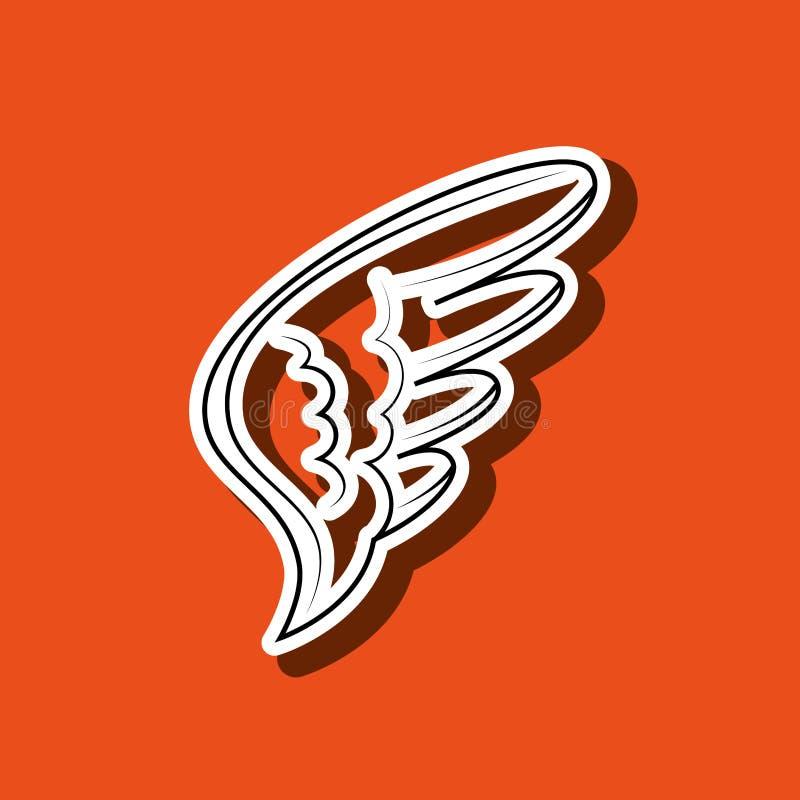 σχέδιο εικονιδίων φτερών απεικόνιση αποθεμάτων
