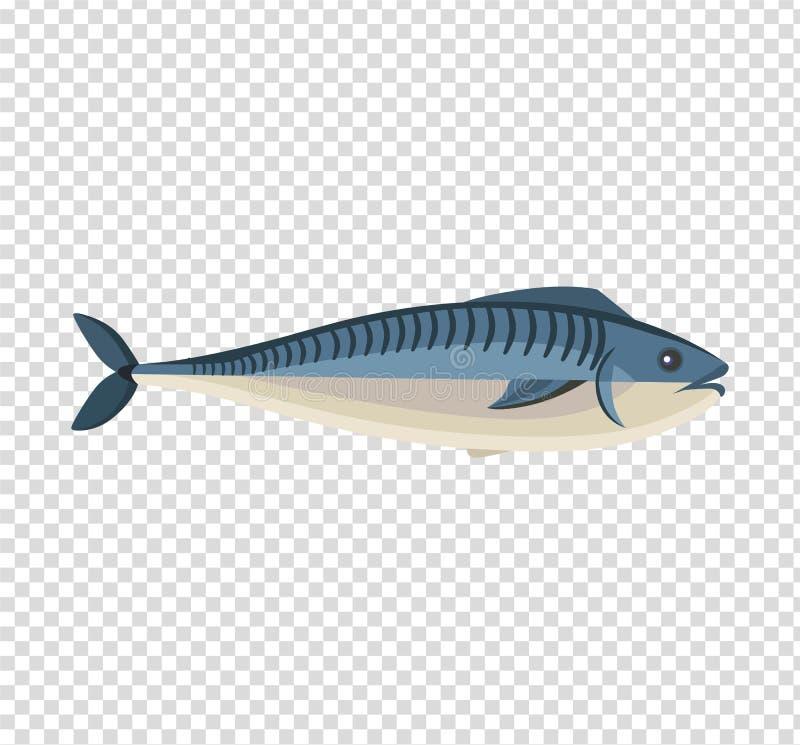 Σχέδιο εικονιδίων ψαριών επίπεδο ελεύθερη απεικόνιση δικαιώματος