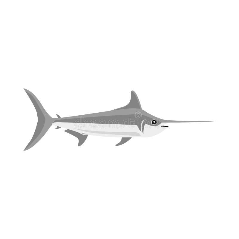 Σχέδιο εικονιδίων ψαριών επίπεδο απεικόνιση αποθεμάτων