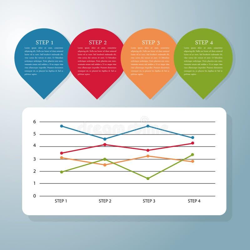 Σχέδιο εικονιδίων Infographic διανυσματική απεικόνιση