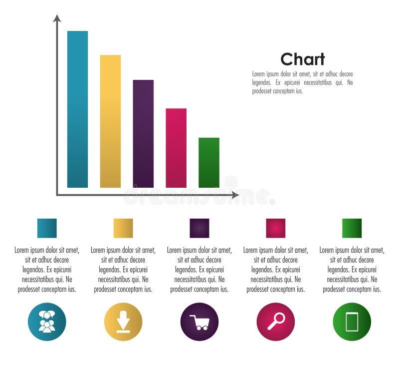 Σχέδιο εικονιδίων Infographic απεικόνιση αποθεμάτων