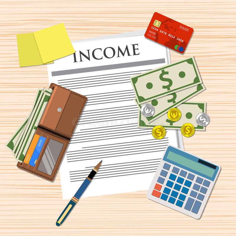 Σχέδιο εισοδηματικής πληρωμής διανυσματική απεικόνιση