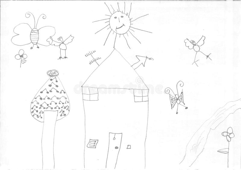 Σχέδιο ενός κοριτσιού προσφύγων στοκ φωτογραφία