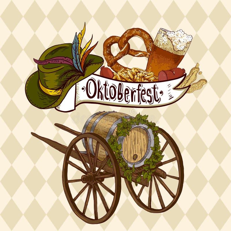 σχέδιο εορτασμού το πιό oktoberfes απεικόνιση αποθεμάτων