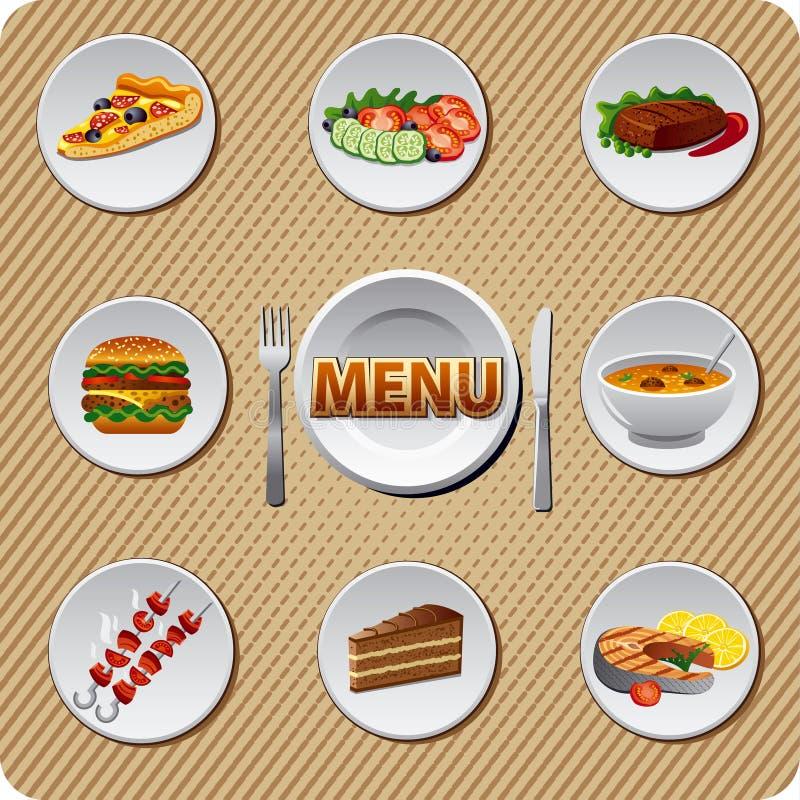 Σχέδιο επιλογών εστιατορίων διανυσματική απεικόνιση