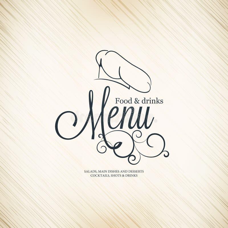 Σχέδιο επιλογών εστιατορίων ελεύθερη απεικόνιση δικαιώματος