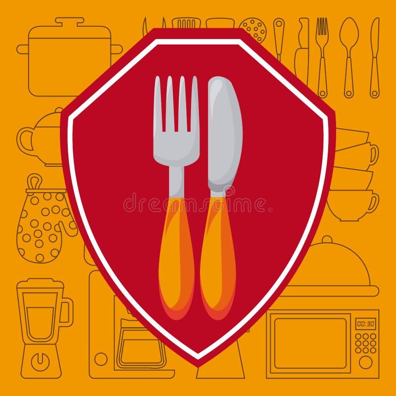 Download Σχέδιο επιλογών και τροφίμων Διανυσματική απεικόνιση - εικονογραφία από δημιουργικός, γευματίζων: 62702434