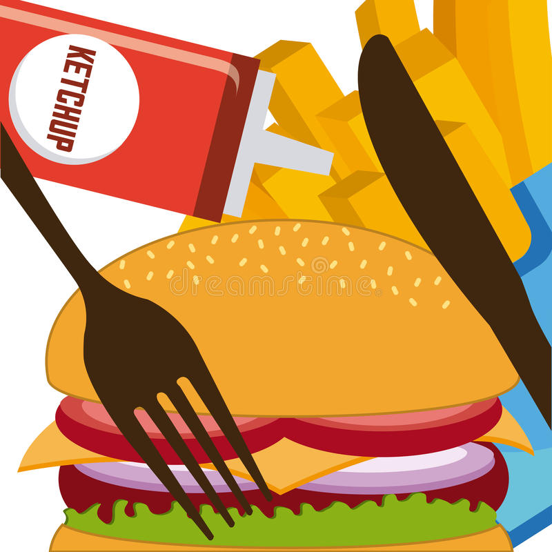 Download Σχέδιο επιλογών και τροφίμων Διανυσματική απεικόνιση - εικονογραφία από μαχαιροπήρουνα, lunch: 62703678