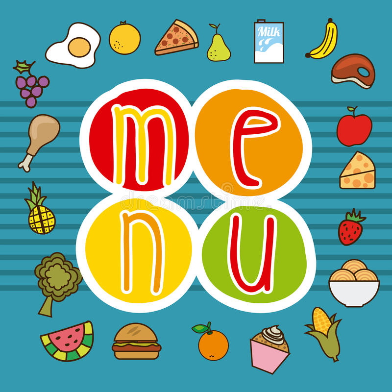 Download Σχέδιο επιλογών και τροφίμων Διανυσματική απεικόνιση - εικονογραφία από έμβλημα, διάνυσμα: 62703881