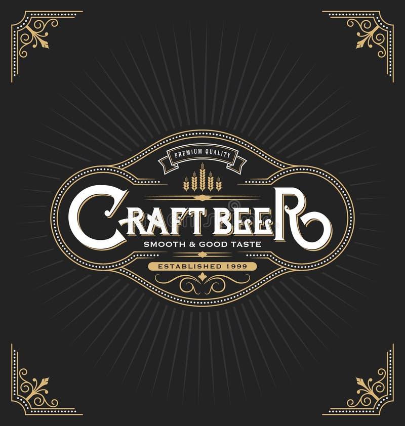 Σχέδιο ετικετών αυτοκόλλητων ετικεττών μπύρας τεχνών ελεύθερη απεικόνιση δικαιώματος