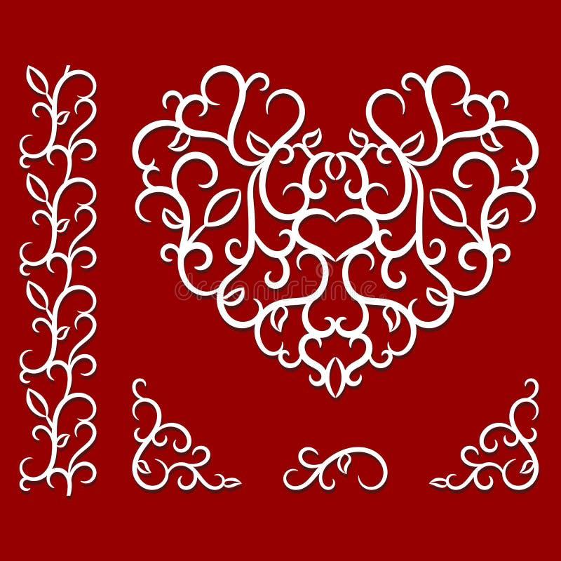 Σχέδιο ημέρας βαλεντίνων με την καρδιά διανυσματική απεικόνιση