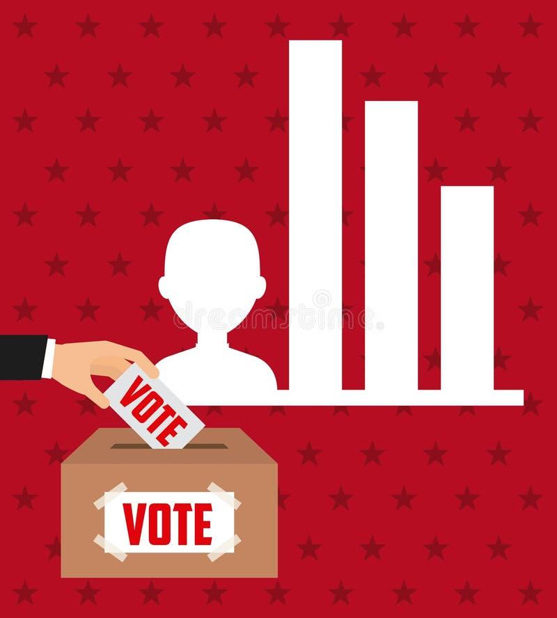 Σχέδιο ημέρας εκλογών διανυσματική απεικόνιση