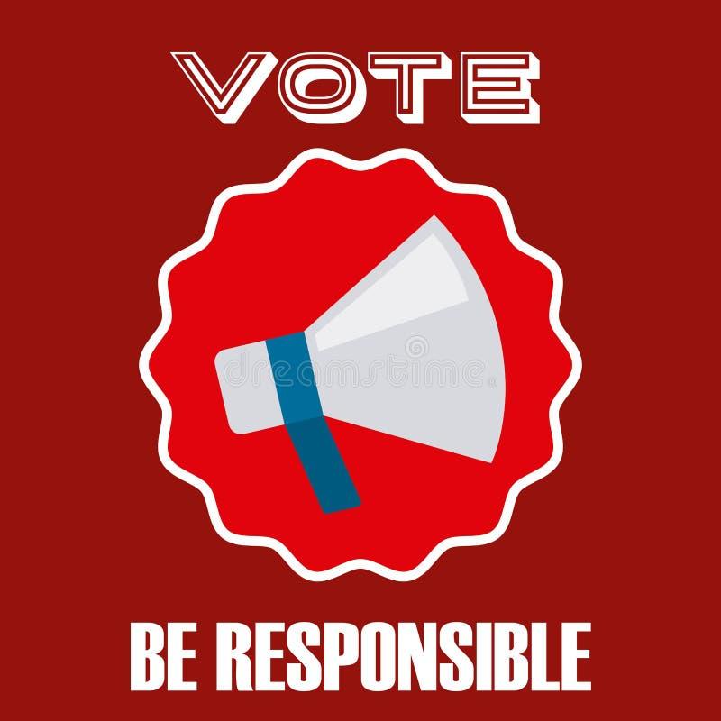Σχέδιο ημέρας εκλογών απεικόνιση αποθεμάτων