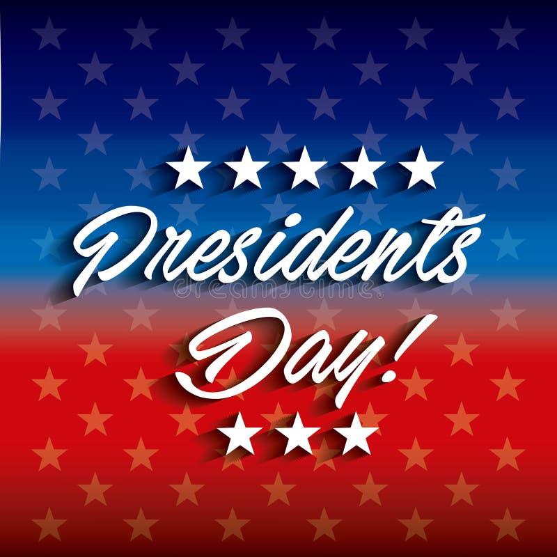 Σχέδιο ημέρας Προέδρων απεικόνιση αποθεμάτων