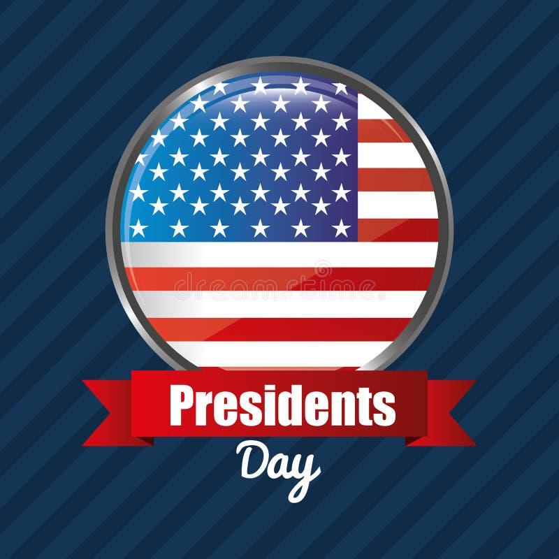 Σχέδιο ημέρας Προέδρων ελεύθερη απεικόνιση δικαιώματος