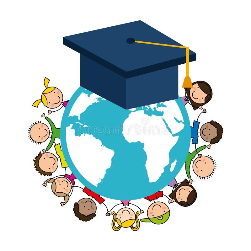 Σχέδιο δημοτικών σχολείων διανυσματική απεικόνιση