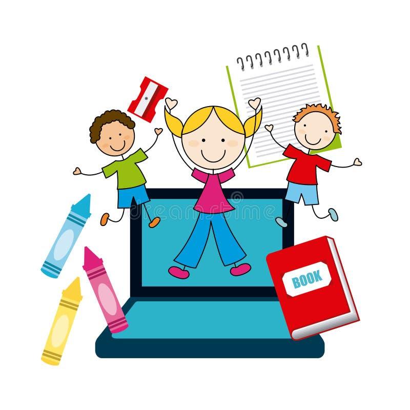 Σχέδιο δημοτικών σχολείων ελεύθερη απεικόνιση δικαιώματος