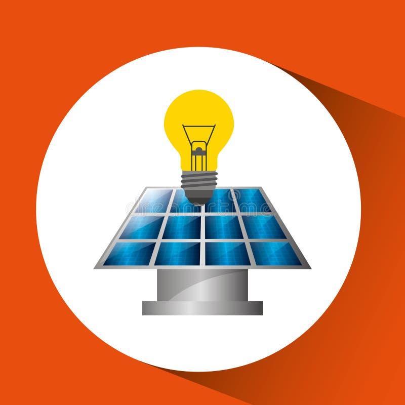 Σχέδιο ηλιακής ενέργειας απεικόνιση αποθεμάτων