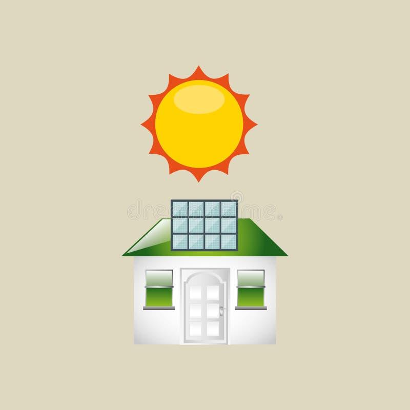 Σχέδιο ηλιακής ενέργειας ελεύθερη απεικόνιση δικαιώματος