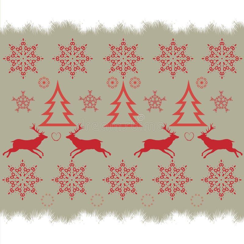 Σχέδιο διαγώνιος-βελονιών κεντητικής Χριστουγέννων διανυσματική απεικόνιση