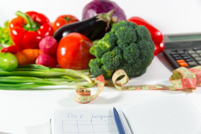 Σχέδιο διατροφής, υγιής φυσική οργανική τροφή στοκ εικόνα με δικαίωμα ελεύθερης χρήσης