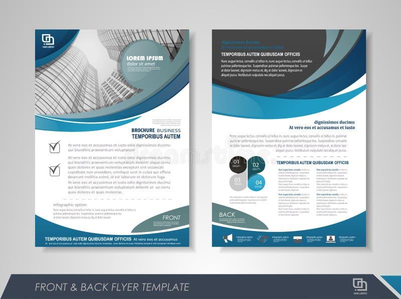 Σχέδιο κάλυψης επιχειρησιακών φυλλάδιων απεικόνιση αποθεμάτων