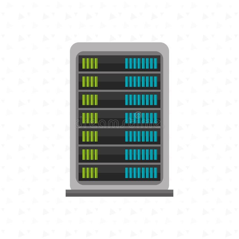 Σχέδιο κέντρων δεδομένων απεικόνιση αποθεμάτων