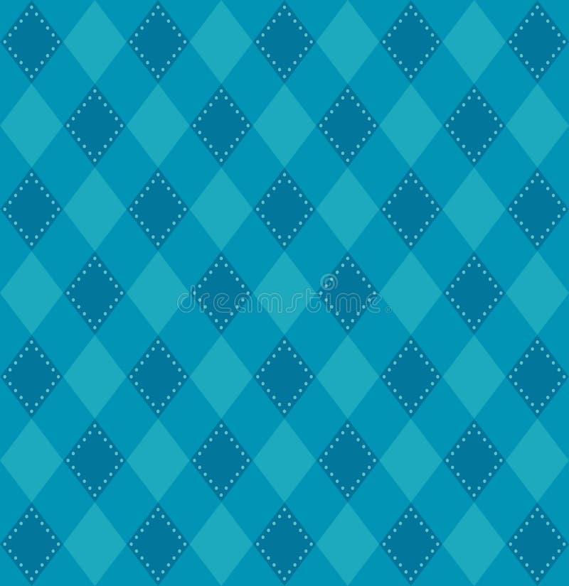 Σχέδιο καρό στους μπλε τόνους διανυσματική απεικόνιση