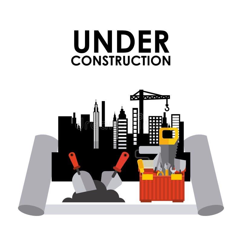 Download σχέδιο κατασκευής κάτω διανυσματική απεικόνιση. εικονογραφία από κατασκευής - 62702796