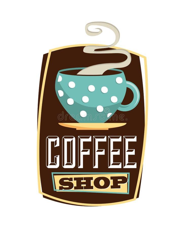 Σχέδιο καφέ διανυσματική απεικόνιση