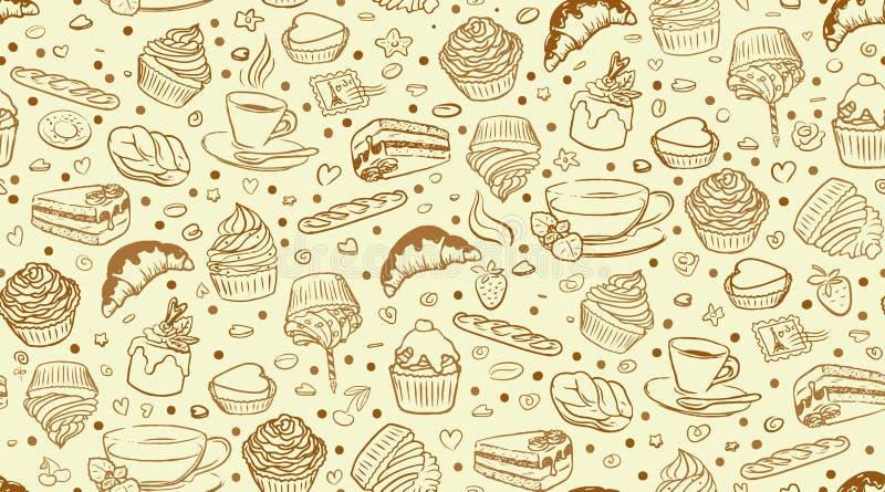 Σχέδιο καφέ cupcake ελεύθερη απεικόνιση δικαιώματος