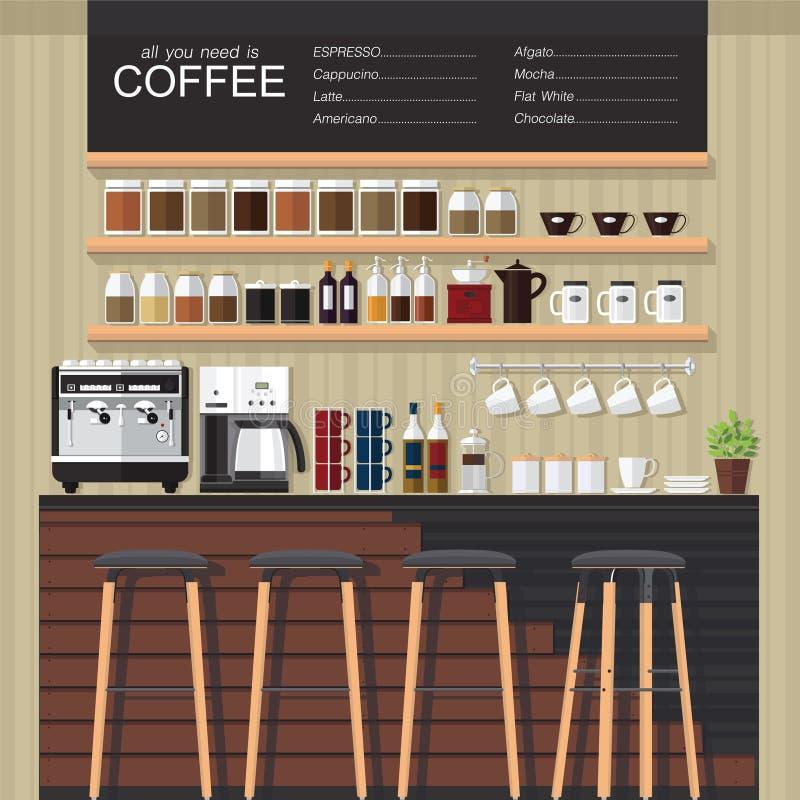 Σχέδιο καφετεριών απεικόνιση αποθεμάτων