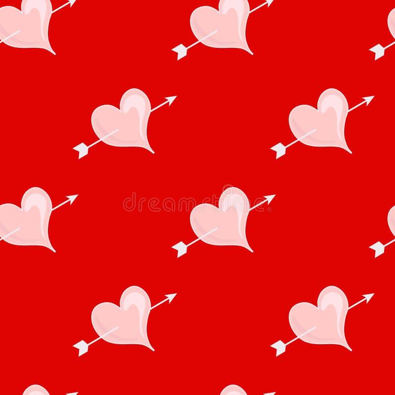Σχέδιο με σπασμένα τα καρδιά επιτύμβια στήλη απεικόνιση αποθεμάτων