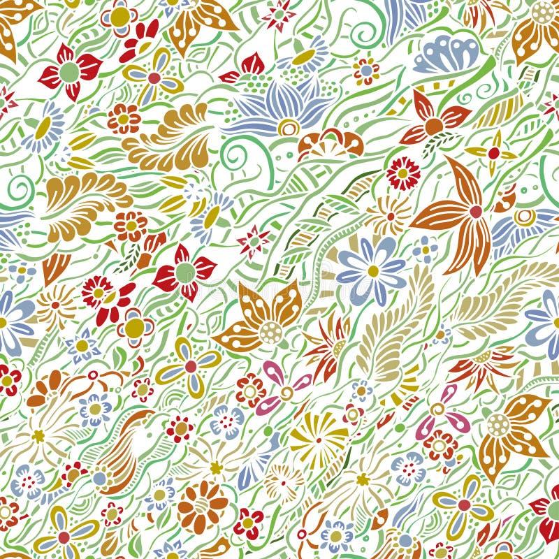 Σχέδιο με τα λουλούδια κήπων διανυσματική απεικόνιση