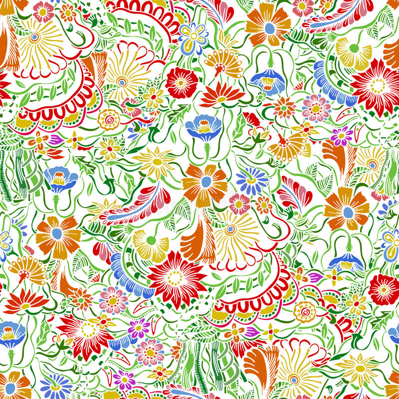 Σχέδιο με τα λουλούδια κήπων ελεύθερη απεικόνιση δικαιώματος