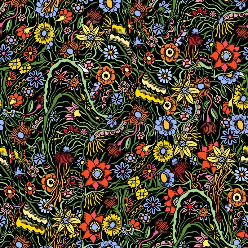 Σχέδιο με τα λουλούδια κήπων απεικόνιση αποθεμάτων