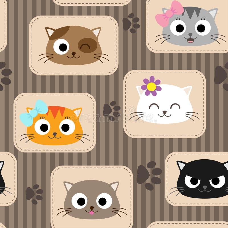 Σχέδιο με τις γάτες ελεύθερη απεικόνιση δικαιώματος